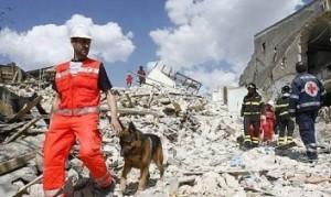 Un'abitazione devastata dal terremoto
