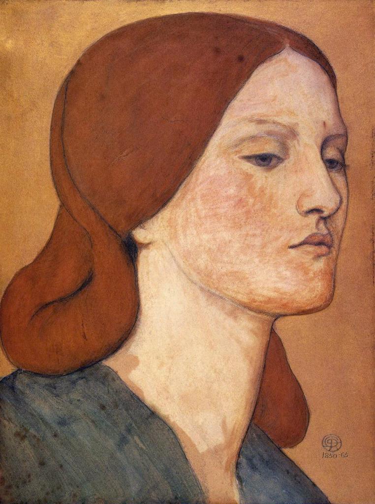 Portrait_of_Elizabeth_Siddal__1850-65__Watercolour_on_Paper