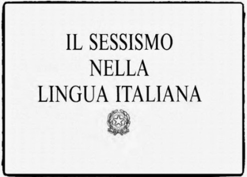 sessismo lingua italiana