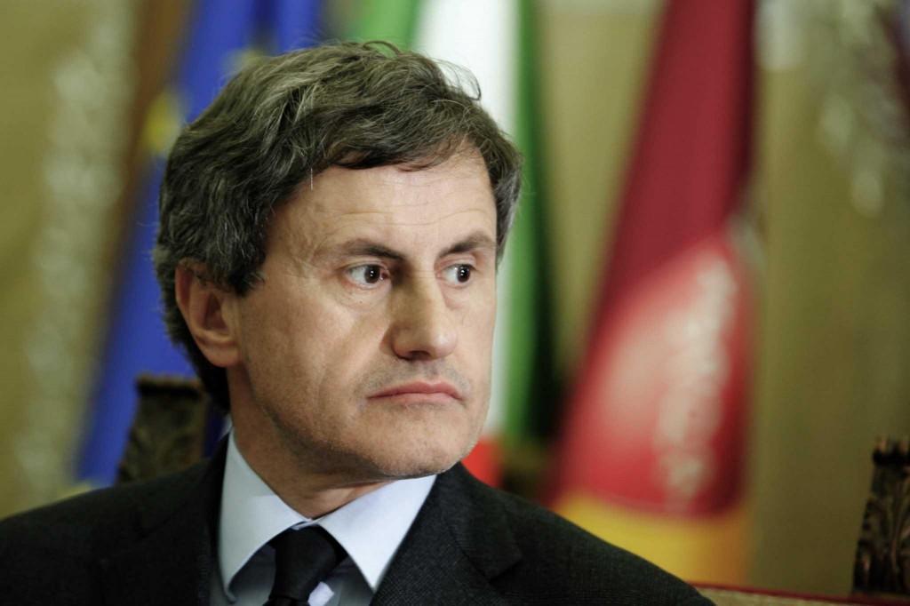 Campidoglio - Incontro tra il ministro Profumo e il sindaco Alemanno per la firma del protocollo d'intesa sull'utilizzo dei beni confiscati alla criminalita' organizzata a Roma