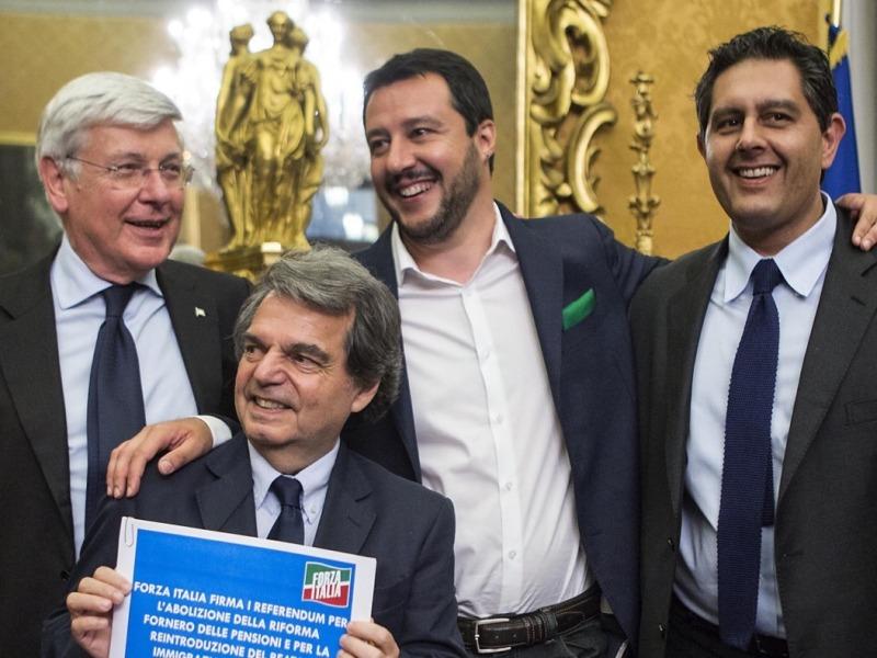 Forza Italia annuncia appoggio a quesiti referendari della Lega