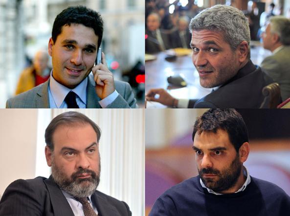 Dall'alto: Giordano Tredicine, Daniele Ozzimo, Mirko Coratti e Luca Gramazio. Fonte: roma.corriere.it