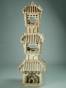 09 - Torre di avvistamento a tre piani smaltata verde (edificio funerario)
