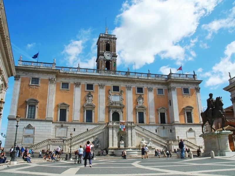 Piazza del Campidoglio e Statua di Marco Aurelio, Roma