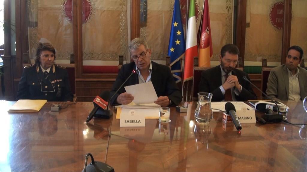 Un'immagine della conferenza stampa del 3 agosto sui Punti Verde Qualità