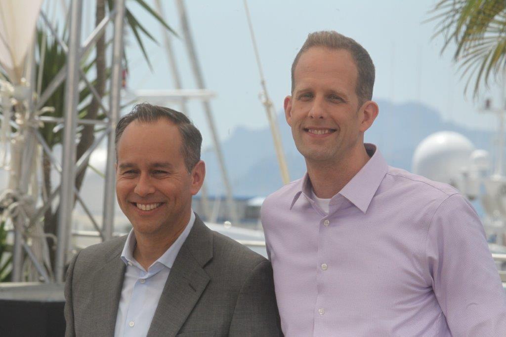 I registi del film: Pete Docter (destra) e Ronnie del Carmen (sinistra)