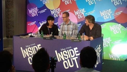 Il regista Pete Docter alla conferenza stampa. Fonte: seesound.it