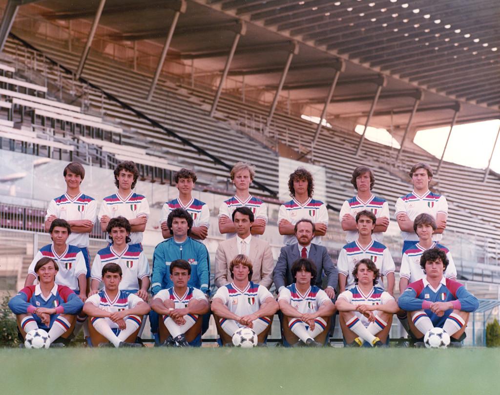 Rosa Giovanissimi Nazionali Campione d'Italia 1983-1984 (Silvestri penultimo di destra fila centrale)