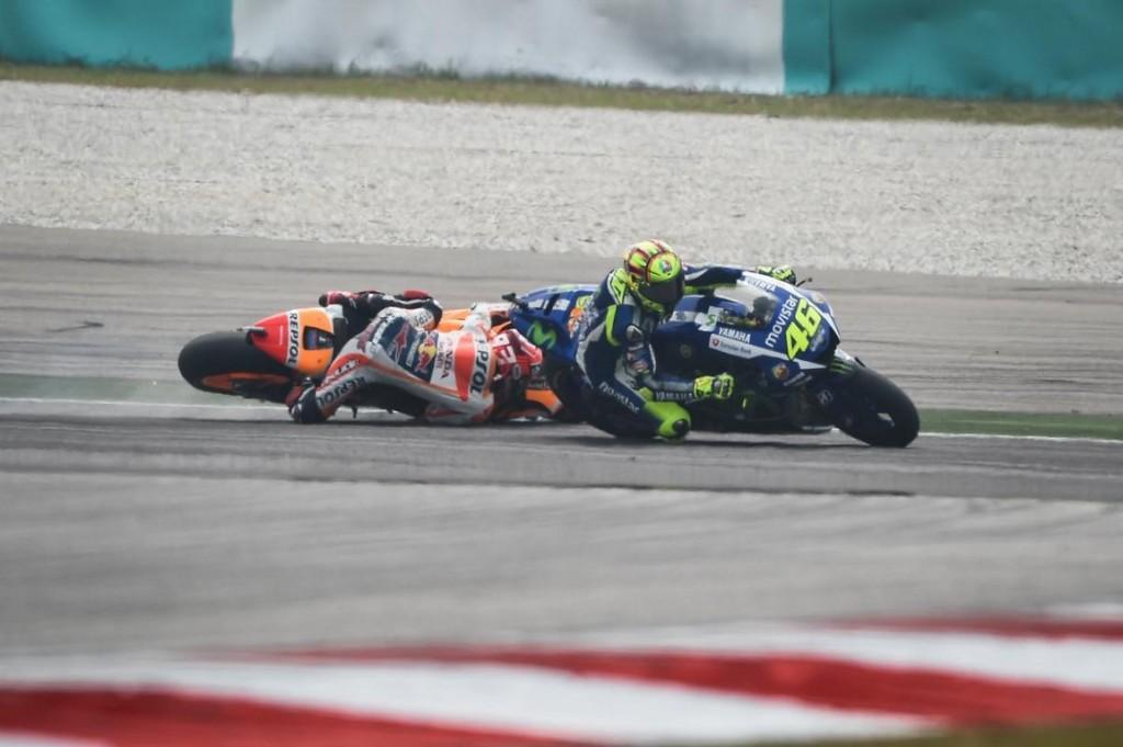 Il crash Rossi-Mrquez di Sepang