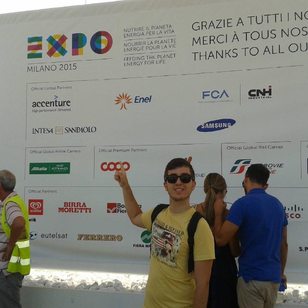 Giacomo Andreoli, responsabile sezione Cronaca, durante la sua visita a Expo Milano 2015