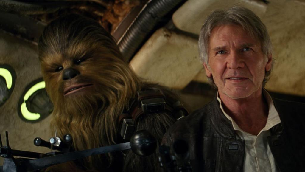 Star Wars 7 Harrison Ford e Chewbacca