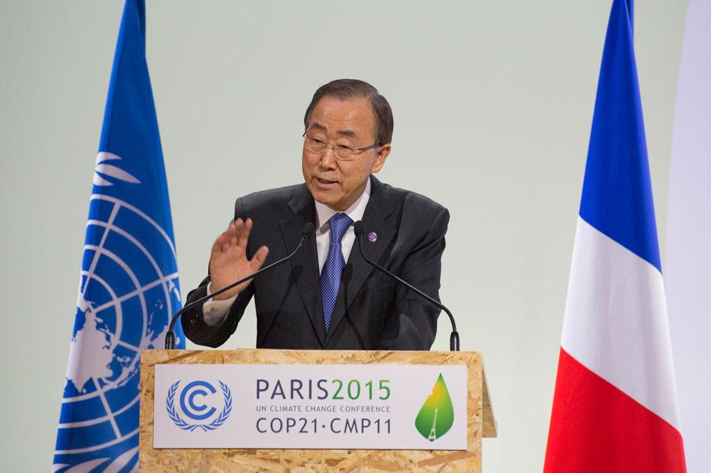 Il segretario generale delle Nazioni Unite, Ban Ki Moon