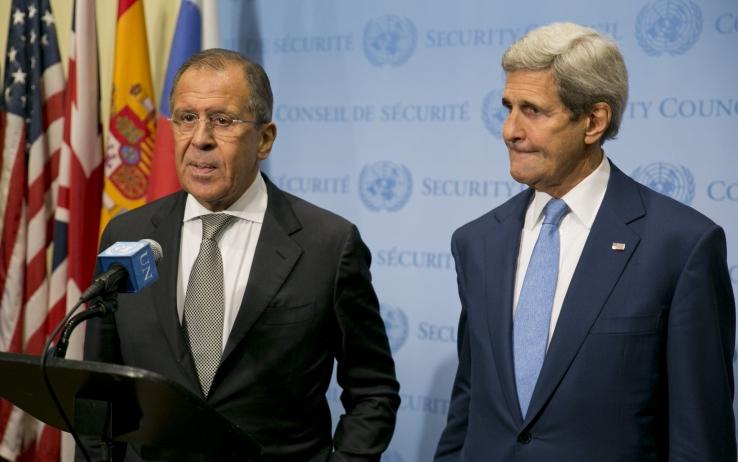 Lavrov e John Kerry. Fonte: tg24.sky.it