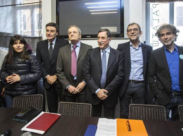 Da sinistra: Chiara Ferraro, Roberto Morassut, Stefano Pedica, Domenico Rossi, Roberto Giachetti e Gianfranco Mascia. Fonte: roma.corriere.it