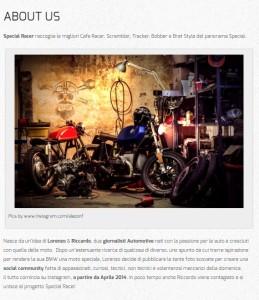 Special racer sito web Moto Special