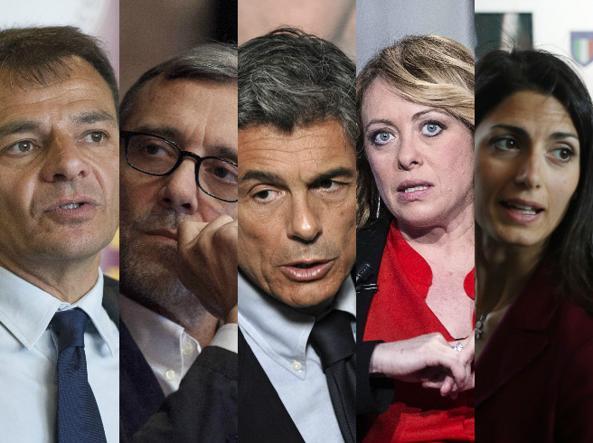 combo candidati-U43040552767777uj-U43180625877573pOC-593x443@Corriere-Web-Roma