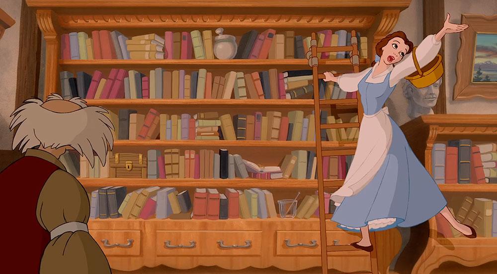 bella e la bestia libreria
