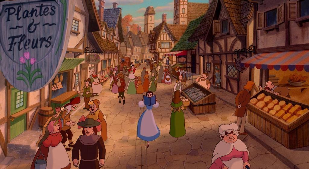 Location Disney reali - La bella e la bestia villaggio Belle