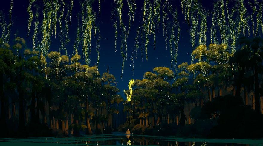 Location Disney reali - La principessa e il ranocchio palude