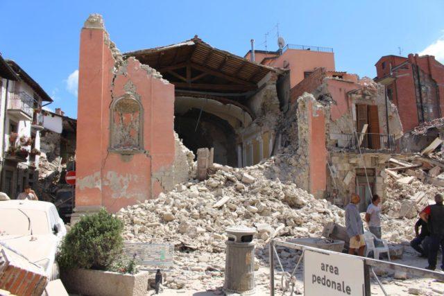 La Chiesa di San Giovanni, ad Amatrice. Fonte: lapresse