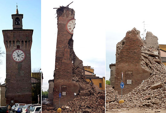 La Torre dei modenesi a Finale Emlia. Fonte: meteoweb.eu