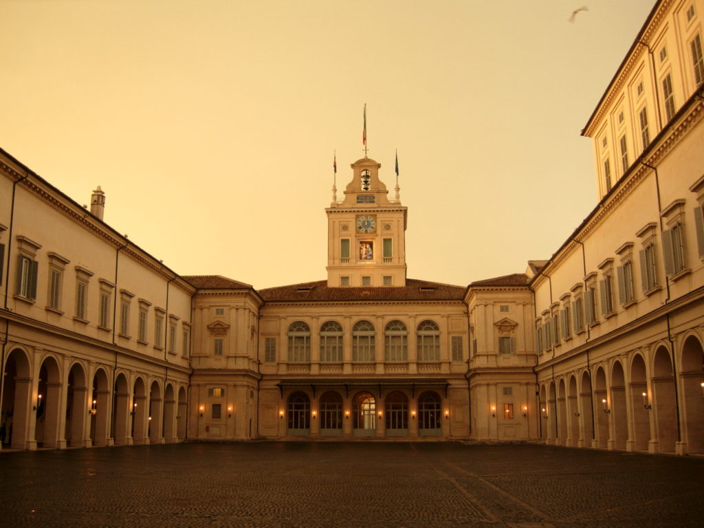 Il Quirinale, sede della presidenza della Repubblica. Fonte: artribune