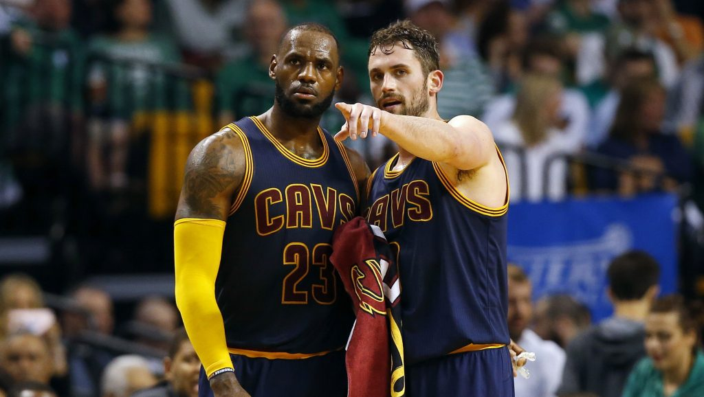 lebron james e kevin love
