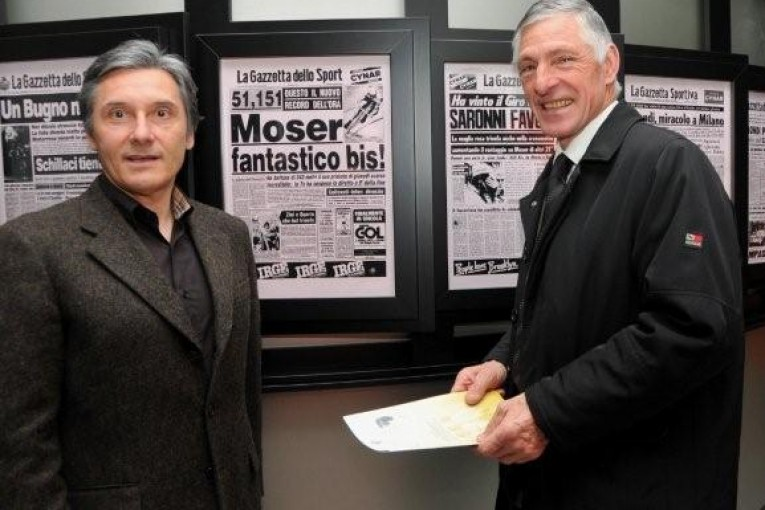 Francesco Moser e Giuseppe Saronni