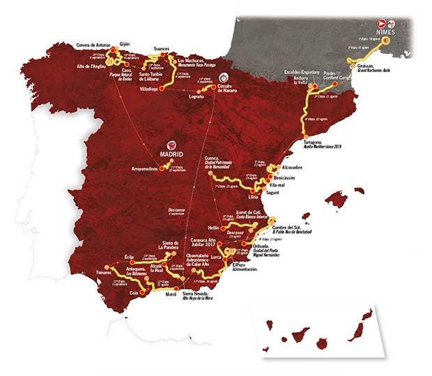 storia vuelta di Spagna