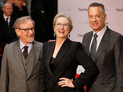 the post - Streep Spielberg Hanks