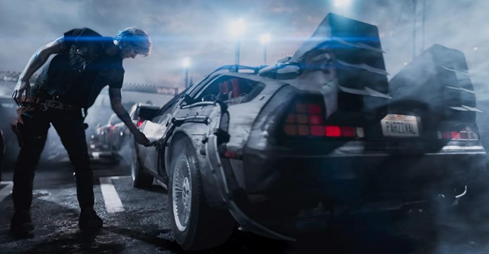 La DeLorean in Ready Player One